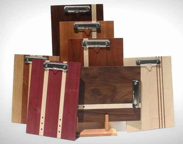 Walnut clipboards