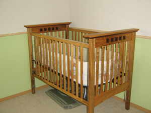 Maple crib crafted by Brian from Longview