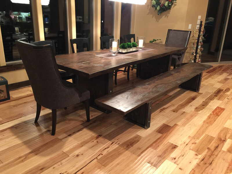 Fir Slab Table - Black Walnut Stain