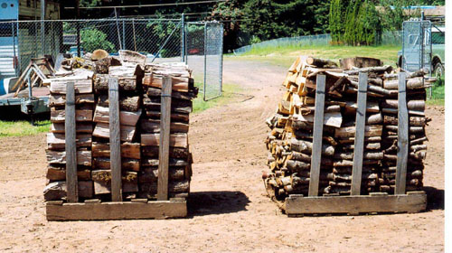 Two pallets of our Camas, Washington firewood makes one cord. Pallets are for delivery purposes only.