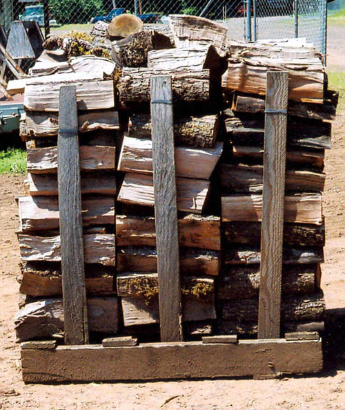 Half-cord of firewood - Camas, Washington. Pallets are for delivery purposes only.