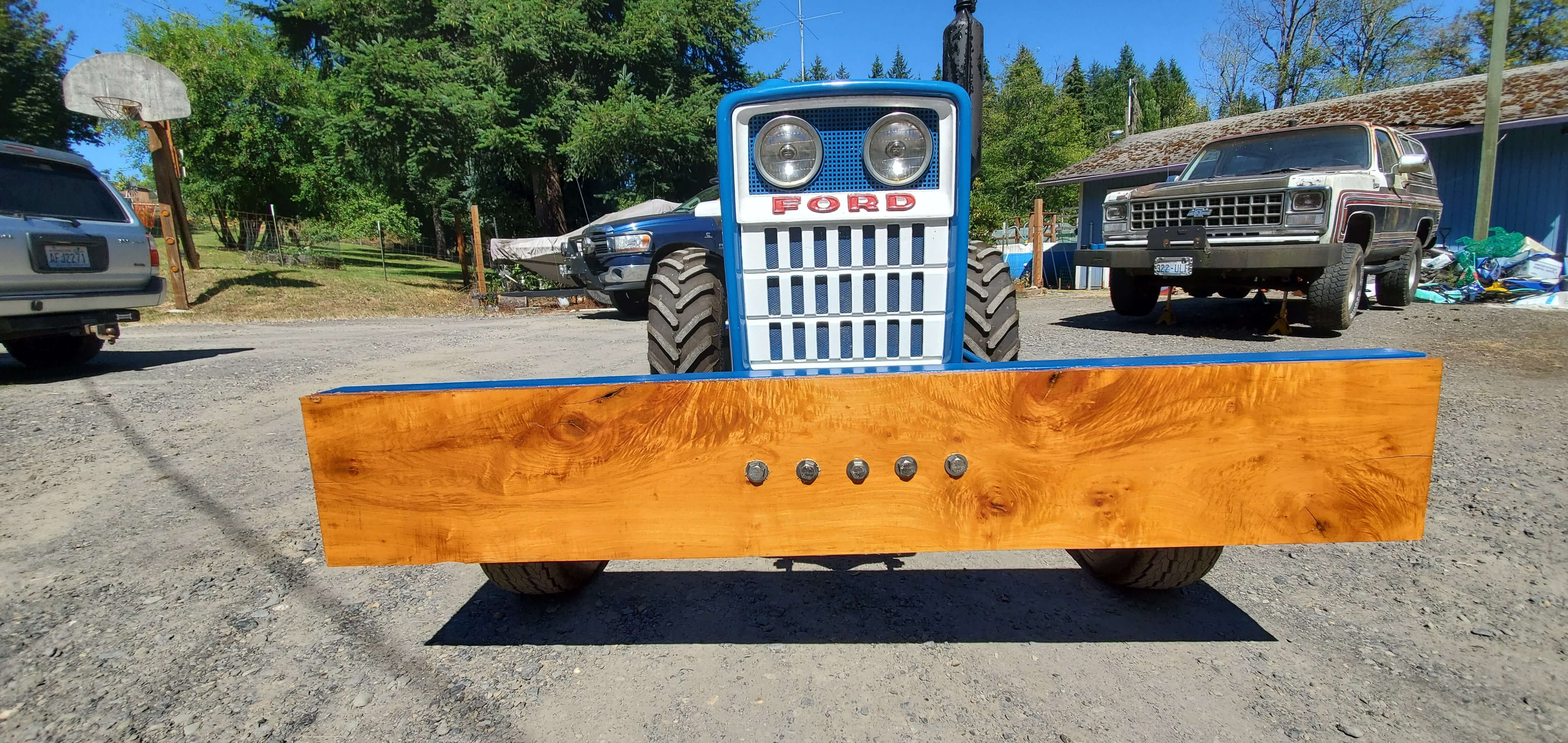 Maple beam as Ford tractor bumper