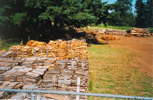 Seasoned firewood from Max Wood Lumber Co. - serving the Camas and Vancouver area since 1980