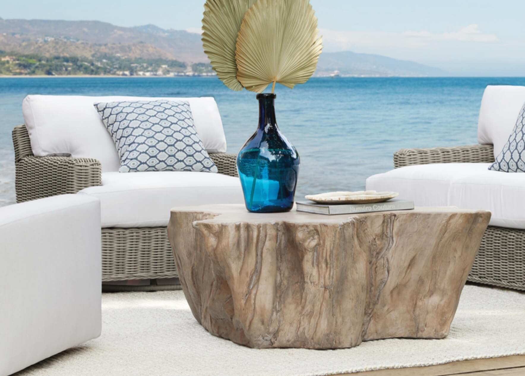 Another stump transformed into beautiful furniture